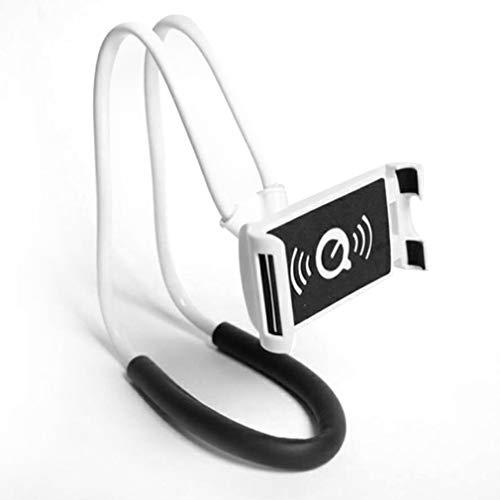 Soporte para teléfono con Cuello Perezoso Soporte de Montaje Perezoso para Tableta giratoria Flexible de 360 Grados Blanco