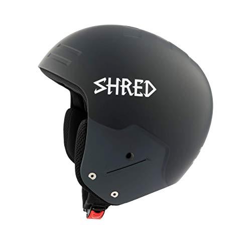 SHRED Helm Basher Noshock Blackout Skihelm, black, L