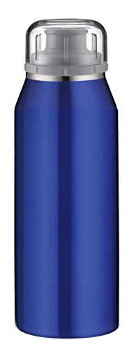 alfi Thermosflasche isoBottle Pure blau 350ml, Isolier-Trinkflasche kohlensäurefest, Edelstahlflasche, Isolierflasche auslaufsicher, 5677.128.035, Thermoskanne 12 Stunden heiß, 24 Stunden kalt