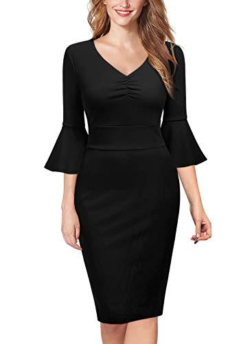 Miusol Elegante Trabajo Coctel Vestido de Lápiz para Mujer