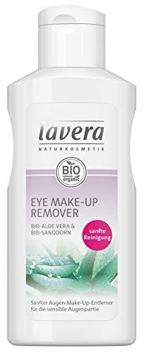 lavera Eye Natural Make-up Remover ∙ Augen Make-up Entferner ∙ Für empfindliche Haut geeignet ∙ Vegan Naturkosmetik Natural Make-up Bio Pflanzenwirkstoffe 100% natürlich 3er Pack (3x 125ml)