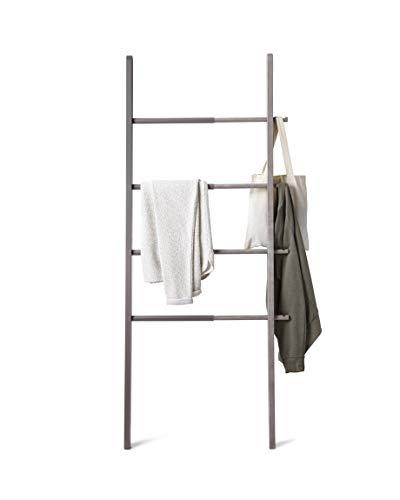 Umbra Hub Kleiderleiter, Handtuchhalter und Garderobenständer, Holz/Stahl, Grau,