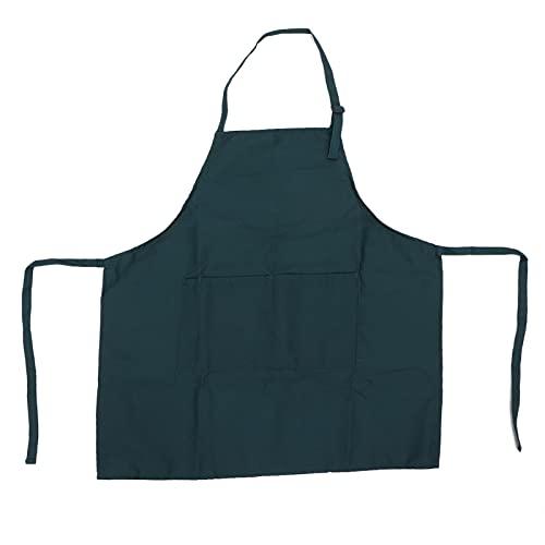 Delantal para hornear, delantal para barbacoa de color puro, delantal de 31,3 x 25,8 pulgadas, impermeable para jardinería, para cocina casera(verde)
