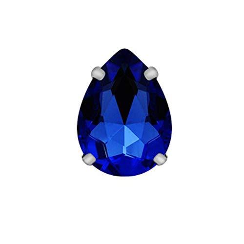 Demarkt - Piedras Brillantes para Coser (Cristales pulidos, con Funda Plateada y Dorada)