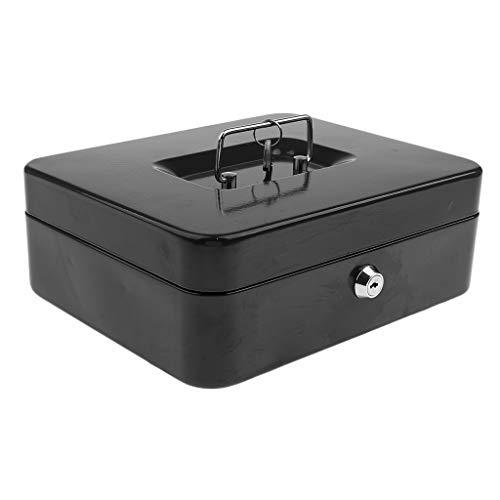 HomeDecTime Caja Fuerte Bloqueable de La Caja de Dinero del Efectivo de La Ranura del Depósito de La Caja Fuerte con 2 Portátiles Dominantes - Negro, Individual