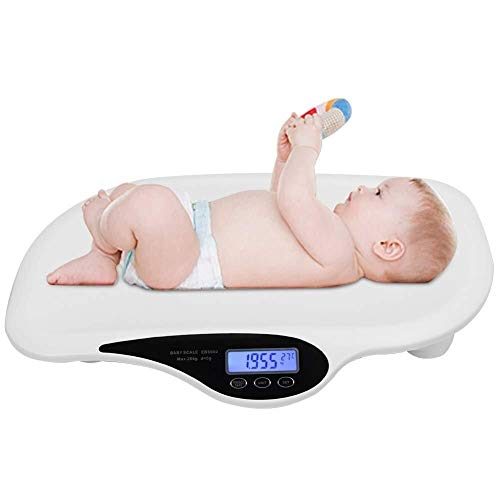 HUAHUA Escala de pesaje de Escala electrónica, la grasa corporal del bebé Báscula de múltiples funciones de Smart Scale, electrónica digital for bebé precisos y ensayos de seguridad 20 kg de peso 44lb