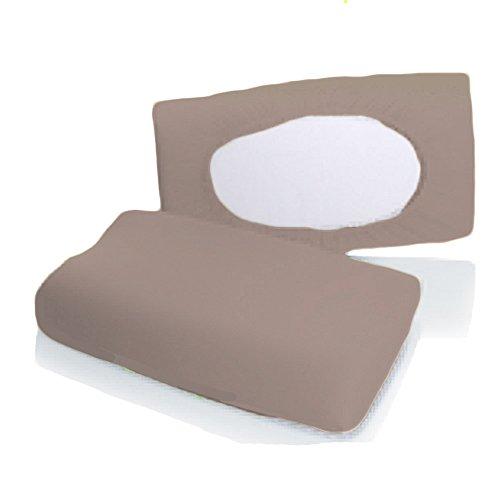 Bellana Gesundheitskissen Bezug Mako Jersey 30-50 x 40-80 cm und 8-15 cm Höhe cm Farbe: Taupe