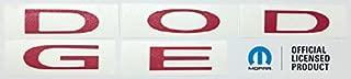 Rear DODGE Emblem Overlay Decal - Fits 2011-2018 Charger - (Color: Pink)