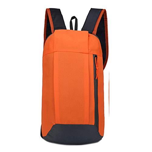 HGFDSA Sac À Dos Oxford Fashion Leisure Pure Color Backpack Sac De Voyage De Transport Léger Extérieur Utilisé pour La Course À Pied, La Randonnée,Le Cyclisme,Orange