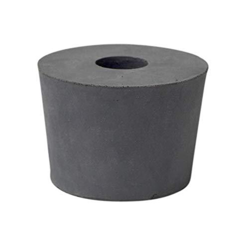 Gummistopfen grau ❀ 17 mm Bohrung ❀ 46 x 54 mm konisch