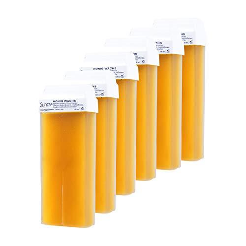 Warmwachspatronen Honig 6 Stück je 100ml - Nachfüllest Original von Sunzze
