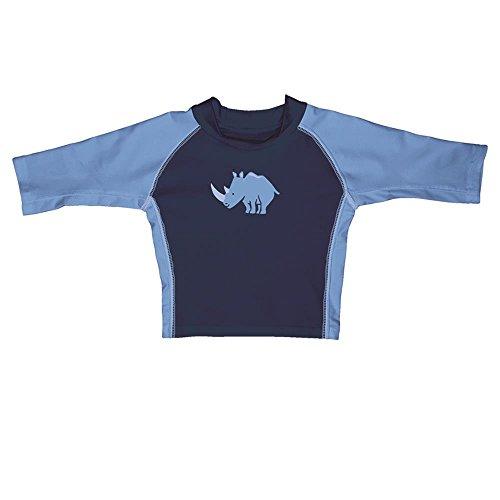 I Play garçon enfants de natation T-shirt Rhinocéros bleu marine - Bleu -