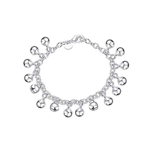 Holibanna Bells Chain Bracelet Solid Link Chain Bracelet Anklet Wrist Jewelry for Women Ladies Girls