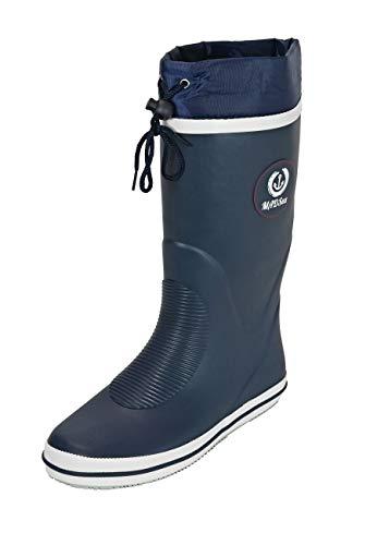 MADSea Damen Herren Gummistiefel Classic High Regenstiefel Langschaft ungefüttert, Farbe:Navyblau, Größe:40 EU