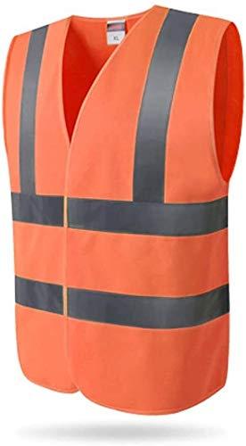 Samantha Safety Vest Chalecos reflexivos Chaleco Protector de Seguridad Viaje de Falla del tráfico en la Noche Chaqueta de Ropa Fluorescente