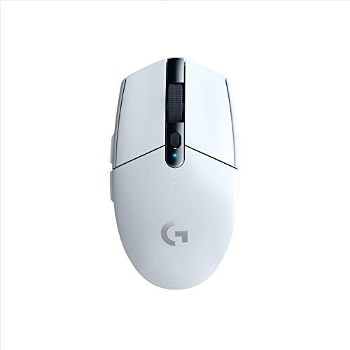 Logitech G305 Lightspeed Wireless Gaming Mouse, Hero Sensor, 12000 DPI, Lightweight, 6 Programmable Buttons, 250h Battery Life, On-Board Memory, PC/Mac - White (German Packaging)