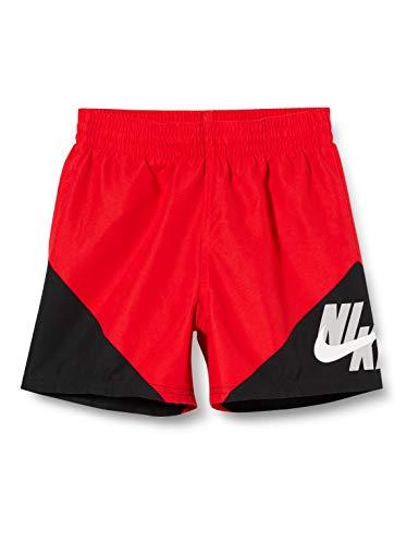 Nike Jungen 4 Volley Short Schwimm-Slips, Rot (University Red), S