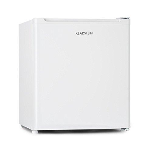 KLARSTEIN Garfield Eco - Congelatore 4 Stelle, Freezer, capacità 34 Litri, 117 kWh/Anno, 2 Livelli, 41 Db, Ripiano Rimovibile, Libera Installazione, Salvaspazio, Classe E, Bianco