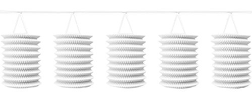NEU Girlande mit Lampions weiß, 365 cm