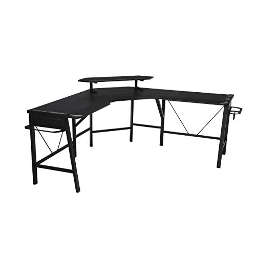 RESPAWN 2010 Gaming Computer Desk, L-Shaped Desk, in Gray (RSP-2010-GRY)