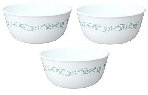 Corelle Livingware 28-Ounce Super Soup/Cereal Bowl, White, Set of 3