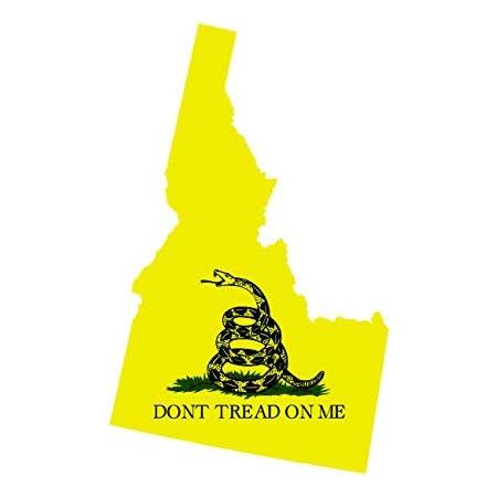 Louisiana State Shaped Gadsden Flag T-Shirt Tee Shirt Free Sticker LA
