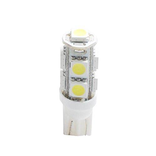 Planet Line PL058W Ampoules LED T10 W5W 9LED Smd5050 12V, Blanc, Set de 2