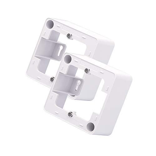 VCE 2 Stück Aufputzgehäuse für Unterputzdosen Aufputz Gehäuse Aufputz Unterputzdose Aufputzrahmen Steckdosen Gehäuse