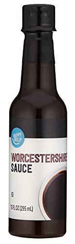 Amazon Brand - Happy Belly Regular Worcestershire Sauce, 10 Oz