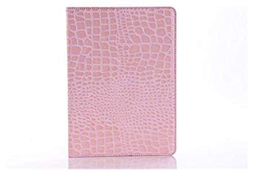 WSY Tab Accessories for IPad 2018 9.7 2017 5th 6th, Protector Shell Tablet Cases, Crocodile Grain Flip Leather Stand Case Cover for IPad 5/6 Air Air 2 (Color : Pink)