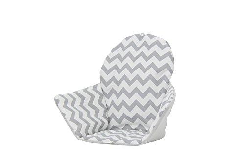 Polini Kids Sitzkissen Sitzeinlage für Ikea Antilop Zick Zack weiß grau