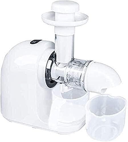 Exprimidor de mascar lento, extractor de jugo de naranja, 150W 70RPM Alimentos completos Masticar lento Juicer de prensa en frío con motor silencioso Función inverso para garantizar el máximo jugo f