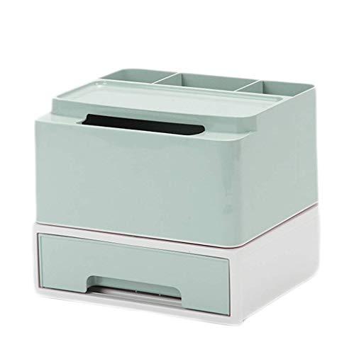 ZTMN Boîte de Rangement cosmétique Coiffeuse Bureau Rouge à lèvres Produits de Soins de la Peau Boîte de Finition Boîte à mouchoirs 21,3 * 18,5 * 18,3 cm (Couleur: Vert)