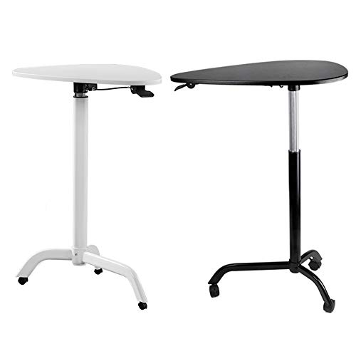 JRPT Welcome Desk Einstellbare 39Cm,Rednerpult Tropfenform Mdf-Platte,Stehpult Bewegungsfreiheit Mehrfachauswahl Dauerhaft/Weiß / 65×44×119cm