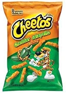 Cheetos Cheese Snacks, Cheddar Jalapeno, 2 Ounce (Pack of 64)