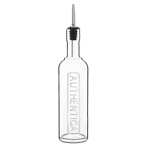 Oliefles glas merk Luigi Boromioli | geschikt zowel voor olijfolie, azijn en alochol 250 ml