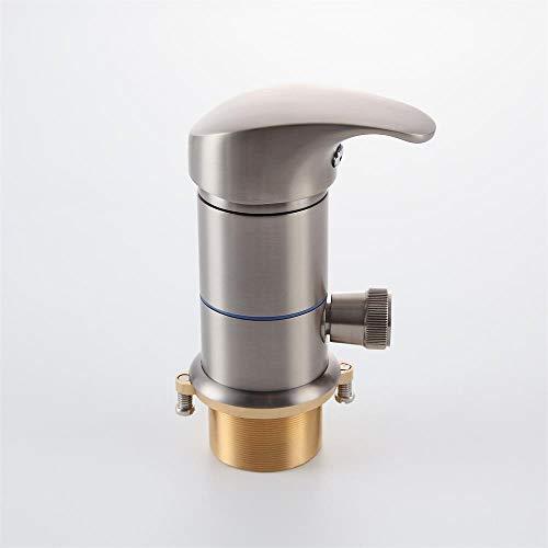 Lovedima Bathroom Waterfall Roman Tub Filler Faucets Handshower Valve Set Brushed Nickel