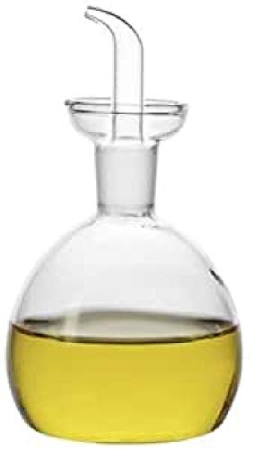 imf Aceitera-Vinagrera Redonda Antigoteo, Glass, Multicolor, 250 ml