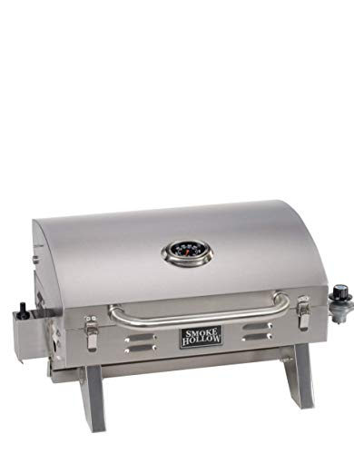 Masterbuilt Smoke Hollow PT300B Propane Tabletop Grill, Stainless Steel