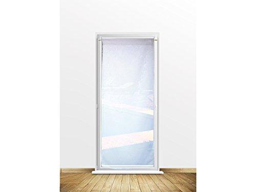 Soleil d'ocre Visillo para Puerta acristalada 70x200 cm Dolly Blanco