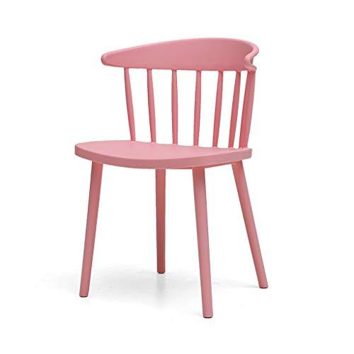 LJZslhei Stuhl Startseite Einfache Stuhl Kreative Kunststoff Esszimmerstuhl Lounge Chair Moderne Zurück Schreibtischstuhl Shop Outdoor Stuhl Rosa