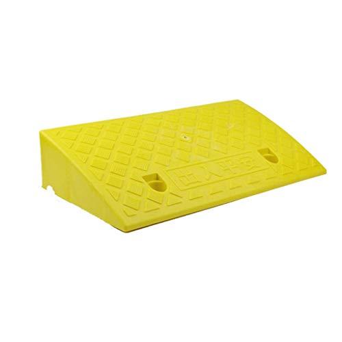 Vehículo auxiliar rampas de subida, rampas de plástico for la puerta, Silla de ruedas eléctrica Rampas adulto Vespa Rampas (Color : Yellow, Size : 50 * 33 * 17CM)