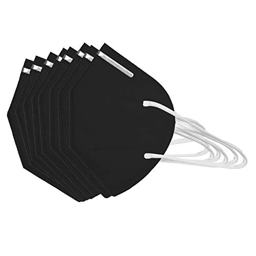 50Pcs Disposаble_N95_Face Mẵsk FDẴ Certified Coronàvịrụs Protectịon Adult's,5-Ply High Filtration Protection_Shield Fàce Màsk _ KF94 - Efficiency≥95% - 180 ° and Air Permeability Black