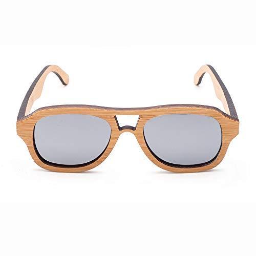 GSSTYJ gepolariseerde retro-bamboe-houten bril voor kinderen tijdens het reizen, outdoor-sport en activiteiten