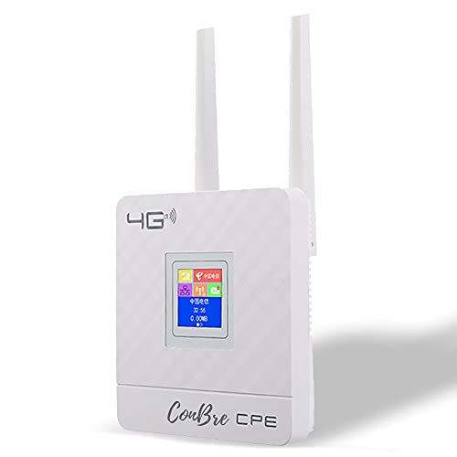 Conbre CPE MT-300N 300Mbps Wireless 4G LTE, Wi-Fi 300H, Plug and Play, Parental Controls, Guest Network, with Micro SIM Card Slot | WiFi Display Router (Indoor with Display Router)
