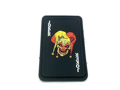 Patch Nation Joker Spielkarte PVC Airsoft Paintball Klett Emblem Abzeichen