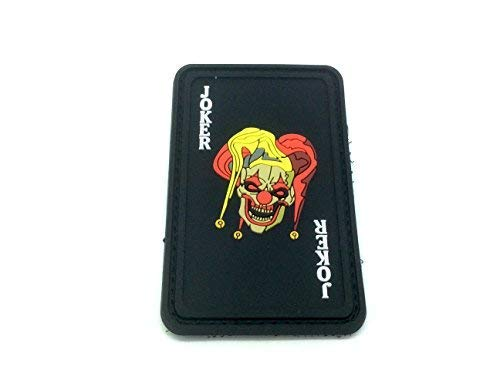 Patch Nation Joker Spielkarte PVC Airsoft Paintball Klett Emblem Abzeichen