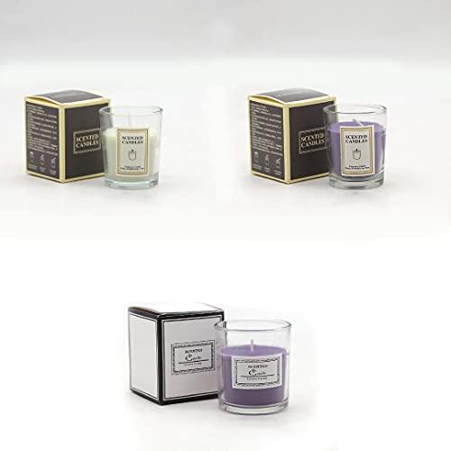 Velas de aromaterapia, paquete de 3 velas para el hogar, velas aromáticas de aromaterapia, juego de regalo, tarro de vidrio, regalo. Velas de incienso con fragancia romántica nórdica
