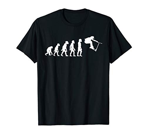Funny Human Scootering Evolution Stunt Scooter Rider T-Shirt