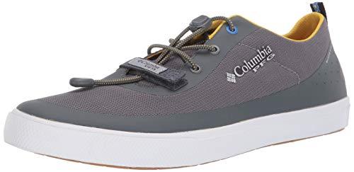 Columbia PFG Men's Dorado CVO PFG Boat Shoe, Ti Grey Steel, Electron Yellow, 11